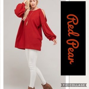 Sale!🔥🔥Red Pear (Rust) Long Light Sweater